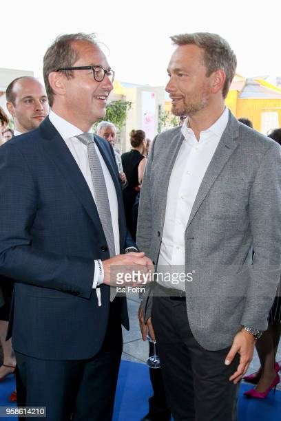 German politician Alexander Dobrindt and German politician Christian Lindnder during the 13th Long Night of the Sueddeutsche Zeitung at Open Air...