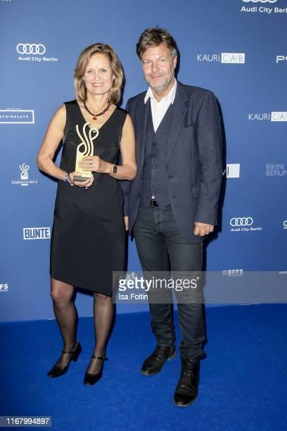 "German politician and award winner Helga Truepel and German politician Robert Habeck at the award ceremony of the ""Deutscher Schauspielpreis"" at Zoo..."