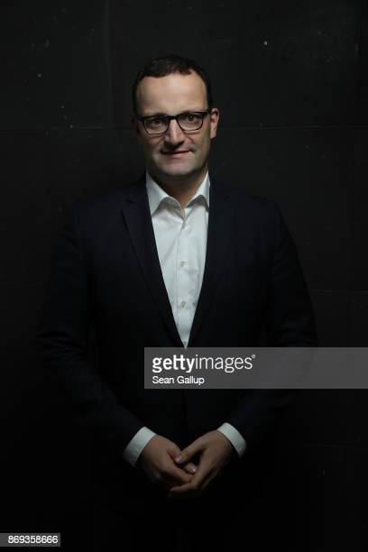 German politician and Christian Democrat Jens Spahn stands for a brief portrait session on November 1 2017 in Berlin Germany Spahn is a CDU...