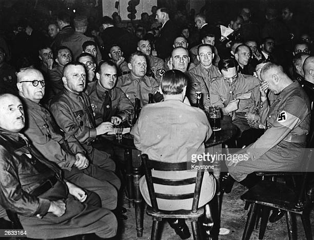 German politician and journalist Julius Streicher in a beer cellar with fellow Nazi brownshirts Original Publication People Disc HO0298