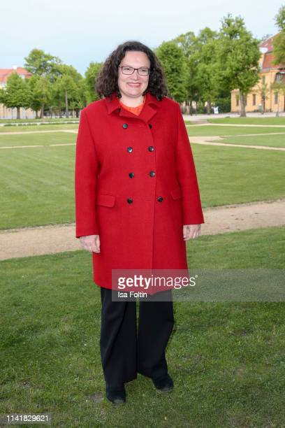 German politician Andrea Nahles during the 14th Long Night of the Sueddeutsche Zeitung at Schloss Charlottenburg on May 6 2019 in Berlin Germany