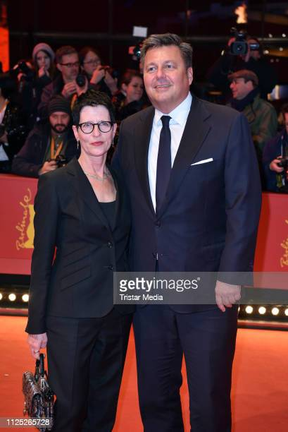 German politician Andreas Geisel and his wife Anke Geisel arrive for the closing ceremony of the 69th Berlinale International Film Festival Berlin at...