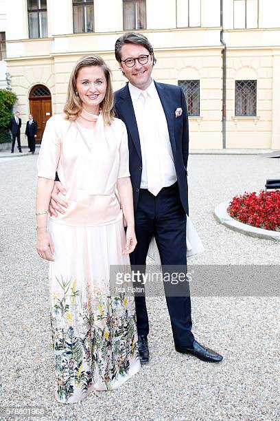 German Politician Andreas Scheuer and his wife Sabine Scheuer attend the Opera Gala With Jonas Kaufmann during the Thurn Taxis Castle Festival 2016...
