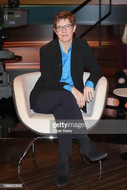 German politician Annegret KrampKarrenbauer during the 'Markus Lanz' TV show on December 5 2018 in Hamburg Germany