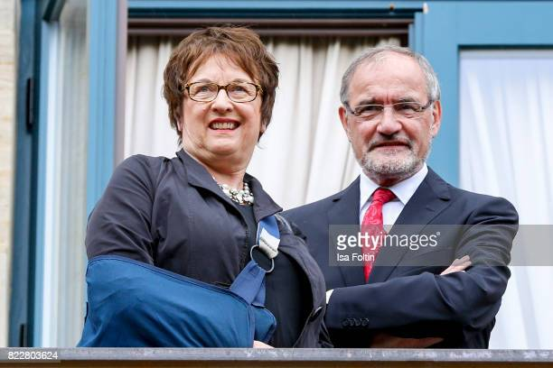 German politician Brigitte Zypries and guest attend the Bayreuth Festival 2017 Opening on July 25 2017 in Bayreuth Germany