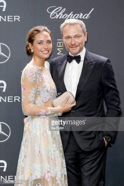 German politician Christian Lindner and Franca Lehfeldt attend the 70th Bambi Awards at Stage Theater on November 16, 2018 in Berlin, Germany.