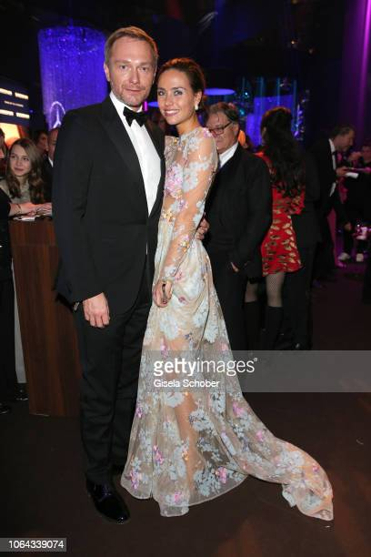 German politician Christian Lindner and Franca Lehfeldt during the Bambi Awards 2018 after party at Stage Theater on November 16 2018 in Berlin...