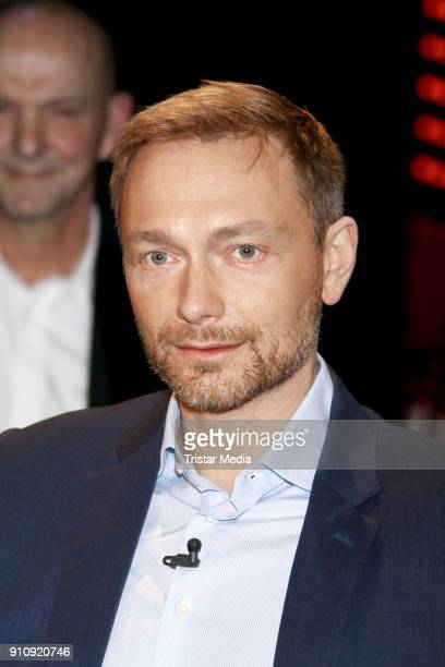German politician Christian Lindner during the TV Talk '3 nach 9' on January 26 2018 in Hamburg Germany