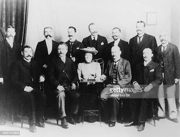 German politician Clara Zetkin and other Social Democrats from Wuerttemberg in on a meeting in Stuttgart