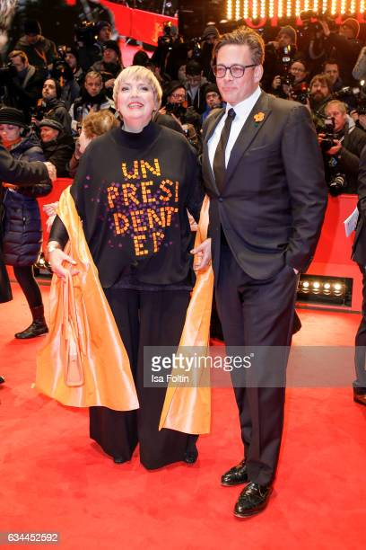German politician Claudia Roth and Konstantin von Notz attend the 'Django' premiere during the 67th Berlinale International Film Festival Berlin at...