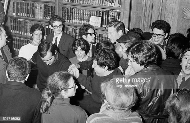 German politician Daniel CohnBendit at a press conference Paris France 30th May 1968