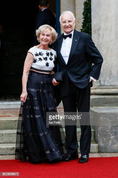German politician Edmund Stoiber and his wife Karin Stoiber attend the Bayreuth Festival 2017 Opening on July 25 2017 in Bayreuth Germany