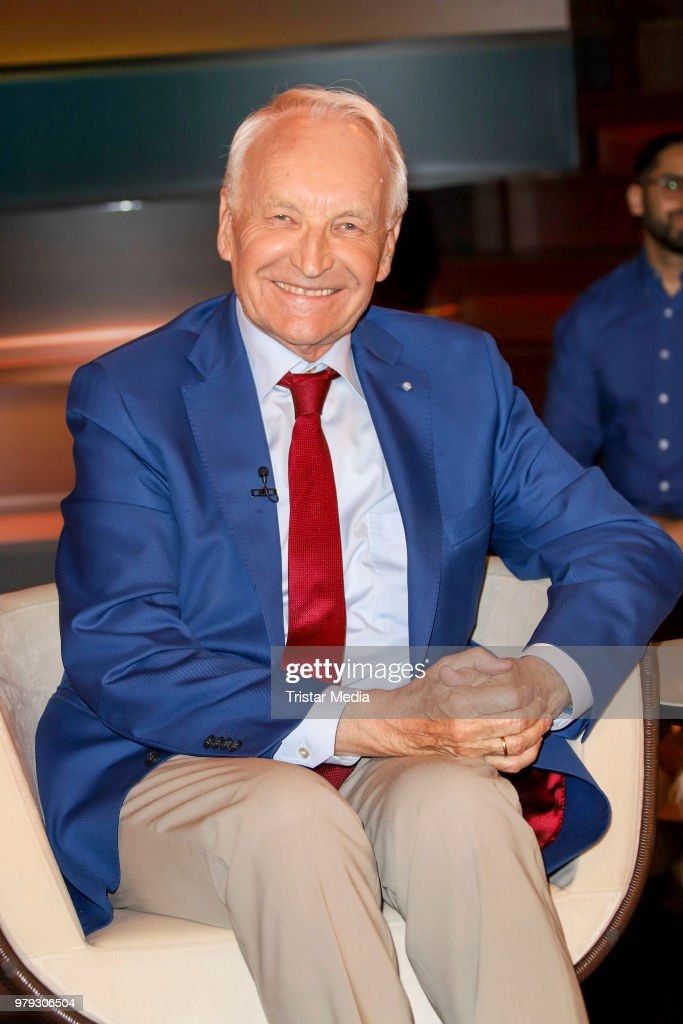 German politician Edmund Stoiber during the TV show 'Markus Lanz' on June 19, 2018 in Hamburg, Germany.