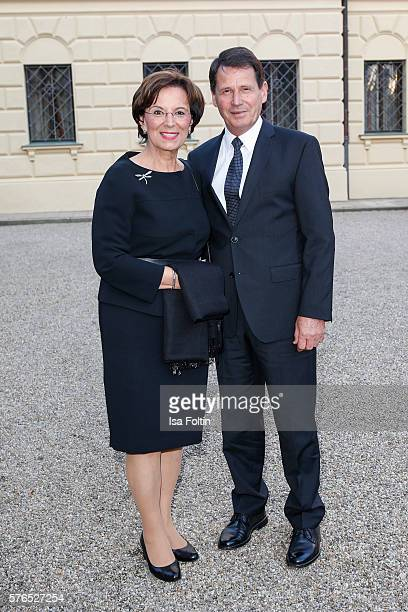 German politician Emilia Müller and her husband Erich Mueller attend the Thurn Taxis Castle Festival 2016 'Carmen' Opera Premiere on July 15 2016 in...