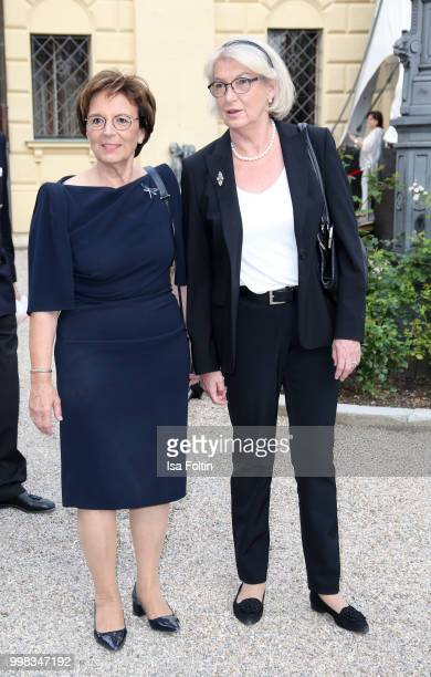 German politician Emilia Mueller and guest attend the Thurn Taxis Castle Festival 2018 'Tosca' Opera Premiere on July 13 2018 in Regensburg Germany