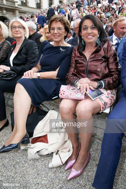 German politician Emilia Mueller and Regine Sixt attend the Thurn Taxis Castle Festival 2018 'Tosca' Opera Premiere on July 13 2018 in Regensburg...