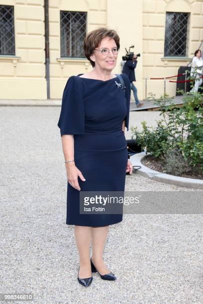 German politician Emilia Mueller attends the Thurn Taxis Castle Festival 2018 'Tosca' Opera Premiere on July 13 2018 in Regensburg Germany