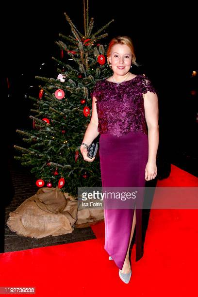 German politician Franziska Giffey during the Daimlers BE A MOVER event at Ein Herz Fuer Kinder Gala at Studio Berlin Adlershof on December 7 2019 in...