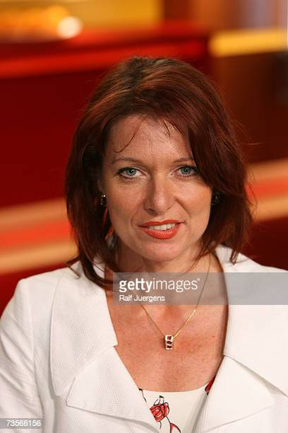 German politician Gabriele Pauli poses after the taping of the Maischberger Talk show on March 13 2007 in Cologne Germany