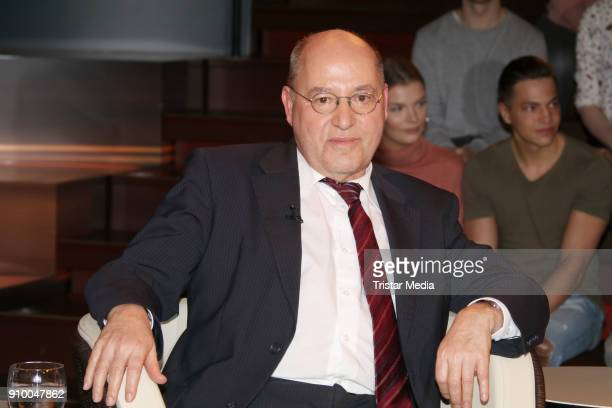 German politician Gregor Gysi during the 'Markus Lanz' TV Show on January 24 2018 in Hamburg Germany