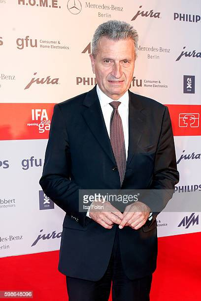German politician Guenther Oettinger attends the IFA 2016 opening gala on September 1 2016 in Berlin Germany