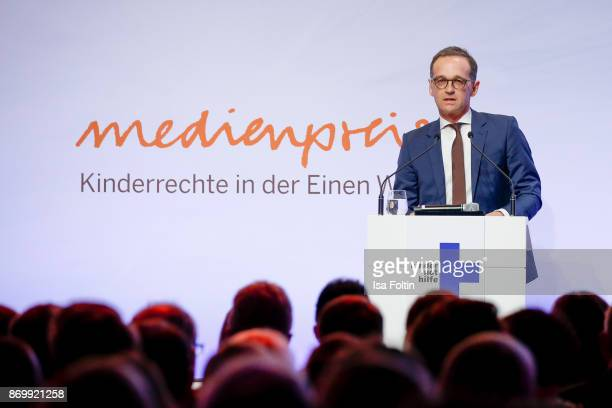 German politician Heiko Maas the 19th Media Award by Kindernothilfe on November 3 2017 in Berlin Germany