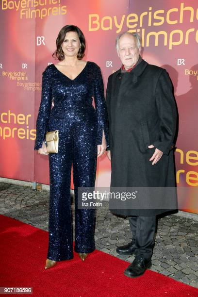 German politician Ilse Aigner and director Werner Herzog attend the Bayerischer Filmpreis 2017 at Prinzregententheater on January 21, 2018 in Munich,...