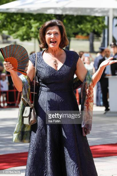 """German politician Ilse Aigner during the Bayreuth Festival 2019 opening premiere """"Tannhaeuser"""" at Bayreuth Festspielhaus on July 25, 2019 in..."""