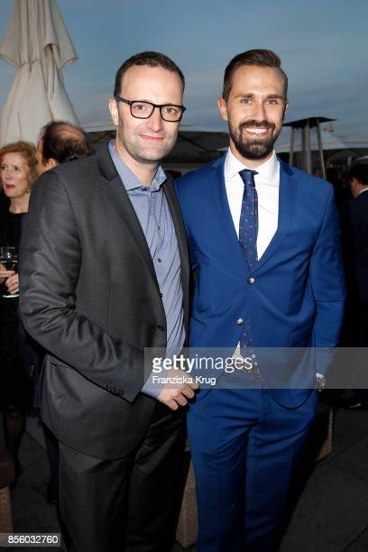German politician Jens Spahn and Daniel Funke attend the 'Staatsoper fuer alle' at Hotel De Rome on September 30 2017 in Berlin Germany