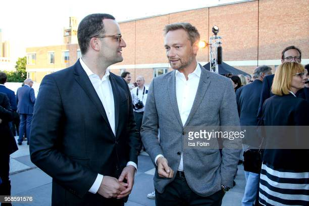 German politician Jens Spahn and German politician Christian Lindnder during the 13th Long Night of the Sueddeutsche Zeitung at Open Air Kulturforum...