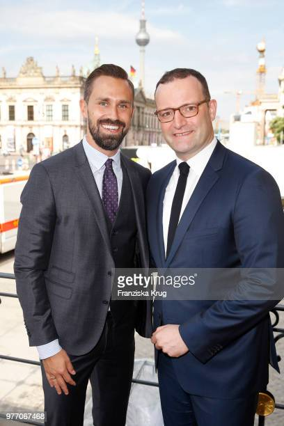 German politician Jens Spahn and his husband Daniel Funke attend the 'Staatsoper fuer alle' open air concert at Bebelplatz on June 17 2018 in Berlin...