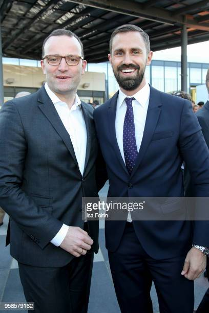 German politician Jens Spahn and his partner Daniel Funke during the 13th Long Night of the Sueddeutsche Zeitung at Open Air Kulturforum on January...