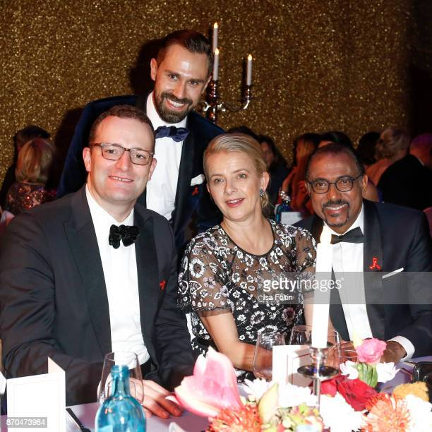 German politician Jens Spahn and his partner Daniel Funke your Royal Highness Princes Mabel von OranienNassau and Michel Sidibe attend the aftershow...