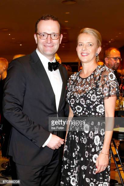 German politician Jens Spahn and your Royal Highness Princess Mabel von OranienNassau during the 24th Opera Gala at Deutsche Oper Berlin on November...