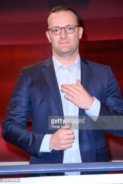 German politician Jens Spahn durig the TV Show 'hart aber fair' on September 11 2017 in Berlin Germany