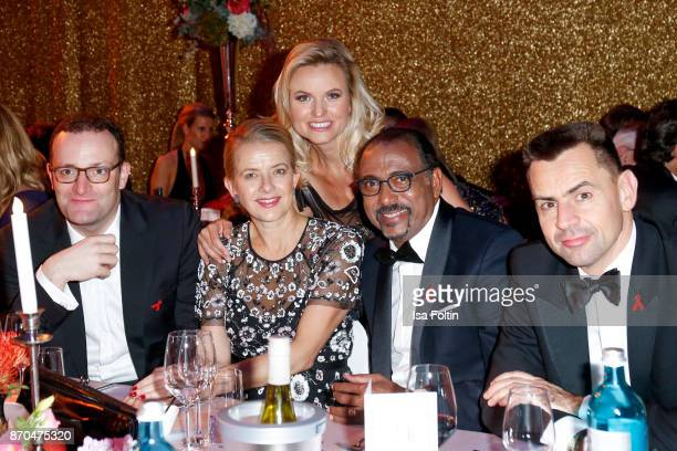German politician Jens Spahn your Royal Highness Princes Mabel von OranienNassau German presenter Carola Ferstl Michel Sidibe and Martin Sander...