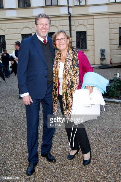 German politician Marcel Huber and his wife Adelgunde Huber attend the Thurn Taxis Castle Festival 2017 'Aida' Opera Premiere on July 14 2017 in...