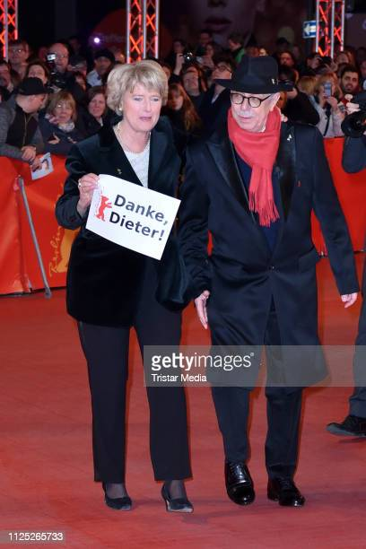 German politician Monika Gruetters and Berlinale festival director Dieter Kosslick arrive for the closing ceremony of the 69th Berlinale...