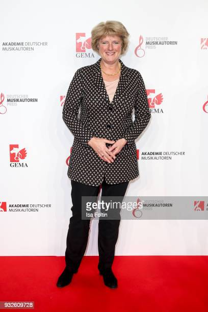 German politician Monika Gruetters during the German musical authors award on March 15 2018 in Berlin Germany