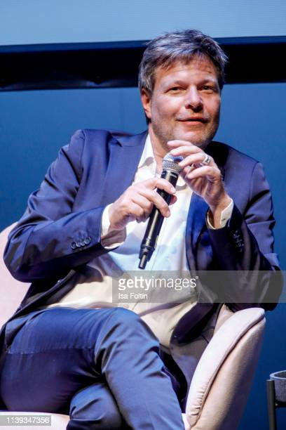 German politician Robert Habeck during the Brigitte Live conversation with Robert Habeck at Maxim Gorki Theater on April 25, 2019 in Berlin, Germany.
