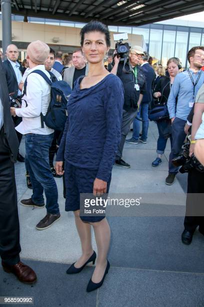 German politician Sahra Wagenknecht during the 13th Long Night of the Sueddeutsche Zeitung at Open Air Kulturforum on January 14 2018 in Berlin...