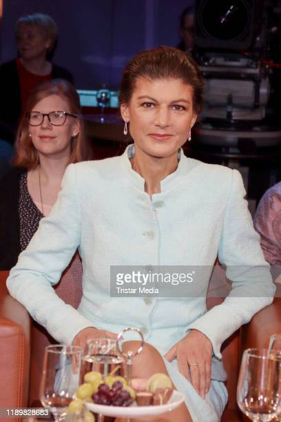German politician Sahra Wagenknecht during the NDR Talk show on November 22 2019 in Hamburg Germany