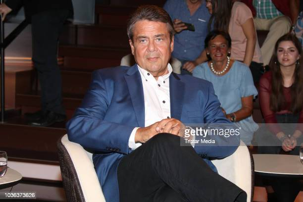 German politician Sigmar Gabriel during the 'Markus Lanz' TV show on September 19, 2018 in Hamburg, Germany.