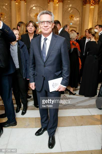 German politician Thomas de Maiziere during the ReOpening of the Staatsoper Unter den Linden on October 3 2017 in Berlin Germany