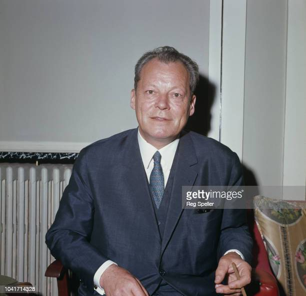 German politician Willy Brandt leader of the Social Democratic Party of Germany attends the Socialist International conference at Eastbourne UK 16th...