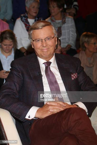 German politician Wolfgang Bosbach during the 'Markus Lanz' TV show on November 27 2018 in Hamburg Germany