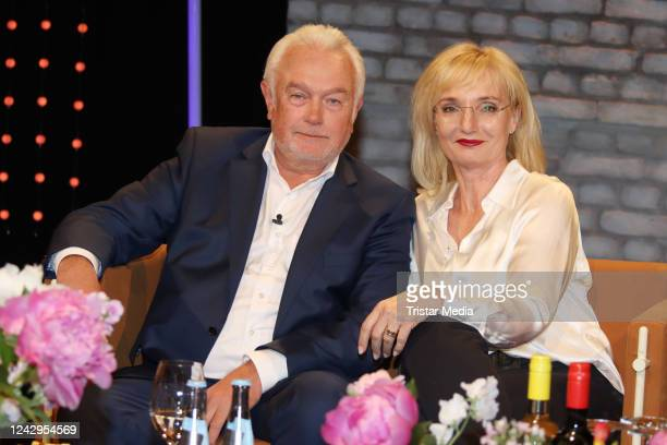 German politician Wolfgang Kubicki and his wife Annette MarberthKubicki at the Radio Bremen talkshow 3nach9 TALK am Dinestag during the Coronavirus...