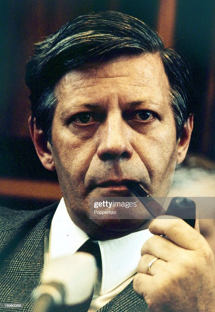 May 1974, Helmut Schmidt, Chancellor of West Germany, 1974-1982