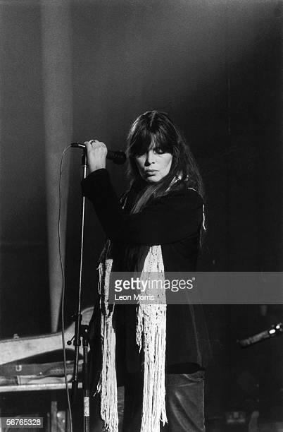 German pop singer Nico in concert 1983