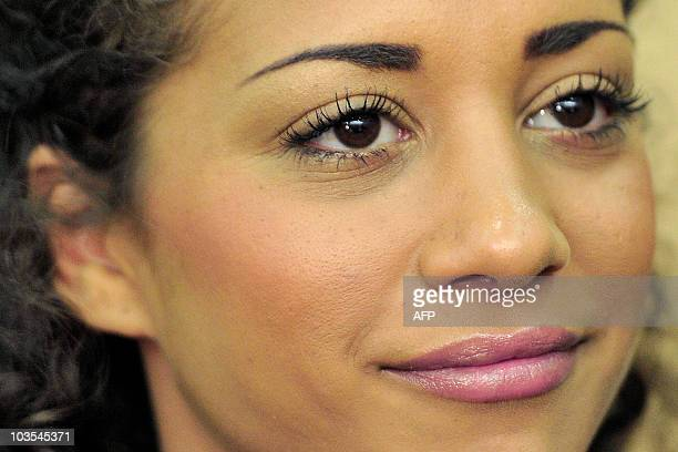 German pop star Nadja Benaissa waits for the beginning of a session of her trial in the district court house in the western German city of Darmstadt...